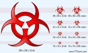 Bio hazard Icon by medical-icon-set