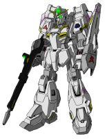 MSZ-006/X1 Zeta Gundam Unit 1 MS mode (Amuro) by unoservix