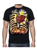 Flaming Chest Tshirt by gnsmtl