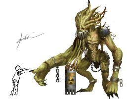 monster concept by zhangc