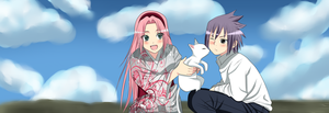 sasusaku with neko 3 by sasuXsaku-1995
