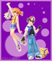 Ash and Misty by brigette