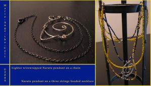 Naruto wirework pendants v 2-3 by Marie-Ange-the-Celt