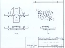 Scotch Yoke Assembly Drawing by Washu-kun