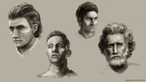 Male Face Study by RustyPulley