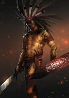 Dayak Warrior by BillCreative