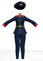 MMD- Service uniform-DOWNLOAD by MMDFakewings18