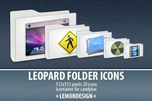Leopard Folder Icons by lemondesign