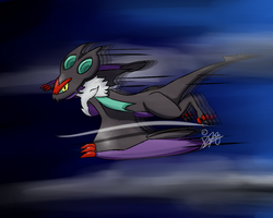 Flying Fast - Noivern by Draareg