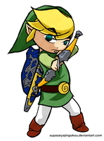 Wind Waker Link - Arching by supasaiyajingokou