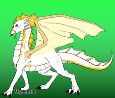 Cloud II the White Dragon by SpellboundFox