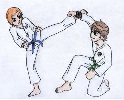 karate cartoon 1 by animefan172