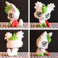 Shaymin Sky Forme inspired LPS custom by pia-chu
