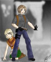 Leon and Ashley by ExoticNectar