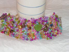 Summer - Hand Knitted Wire Bracelet by nightowl2704
