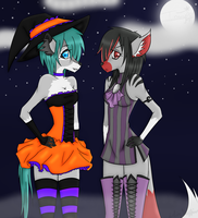 Collab: Exeleer Halloween by iSinMuffin