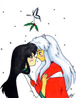 Inukag Under the Mistletoe by chel4900