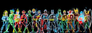 jla neon by AlanSchell