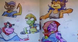 Sly 2's Pro's and Ag's by AquaMarie1995