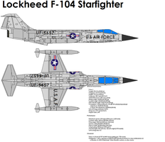 Lockheed F-104 Starfighter by bagera3005