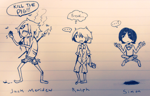 Lord of the Flies doodles by GUTS-and-GLUCOSE
