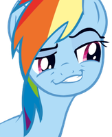 Rainbow Dash Vector - cunning grin by Tailzkip