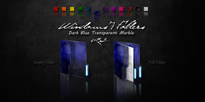 Dark Blue Windows 7 Folders by Drawder