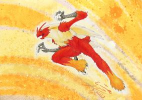 Blaziken by Paperiapina