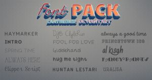 FONT PACK! by ZaaYBieber