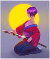 practice [ Female Samurai ] by andy5281