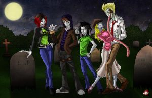 Commission_Zombie Family Photo by WiL-Woods