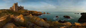Slains Castle by RevelationSpace