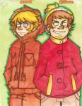 Kenny and Eric cartman by OpticBlast00
