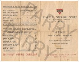 Gresham Court Cairo Menu Front by parry