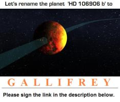 Online petition to rename planet 'Gallifrey' by DoctorWhoOne