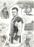 Russell Crowe as Gladiator by InmaculadaGil