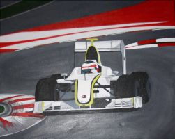 Rubens Barrichello's Brawn by Aura3107