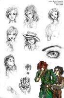 Wheel of Time roughs by SFcelebnaur