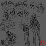 Sans Ref 2 Sketches by illiarovanna