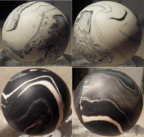 Yin Yang Ceramic Stress Balls by KyuubisSlave