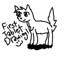 My First Tablet Drawing XD by MossySparkle