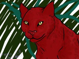 Quetzel [Red Panther] by CreepyBlossom