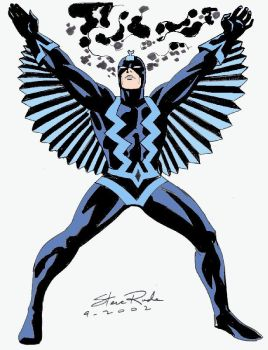 Black Bolt drawn by Steve Rude (colorized by me) by EthanJames93
