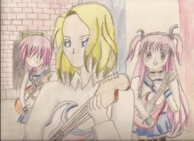 Part of the French team (France, Iwasawa and Yui) by Moonstar9411