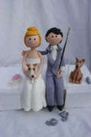 wedding couple and dogs by Verusca