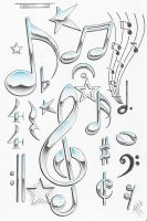 music symbols by markfellows