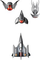 Space Ships for up coming game by Coleslayer