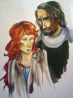 Sansa Stark and the Hound by CzekoladowyManiak