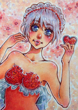 Aceo-Card Valentine's Day by Unklug