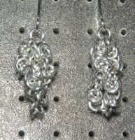 Chainmaille Earring 27 by Des804
